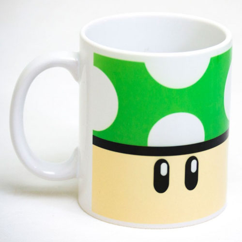 Caneca Gamer - Cogumelo Verde 1-UP 2