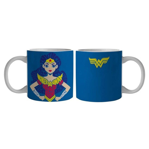 Caneca Mulher-Maravilha / Wonder Woman Azul - DC Comics 3