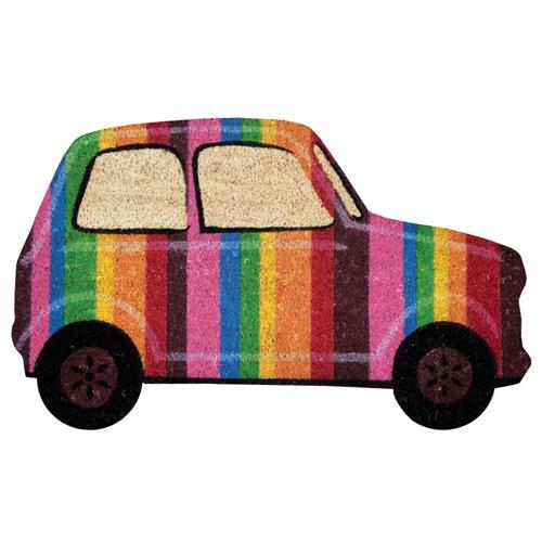 Capacho Carro Colorido - Arco Íris