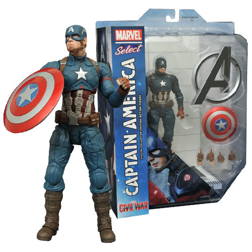 Capitão / Captain America - Action Figure Marvel Select Civil War / Guerra Civil 2