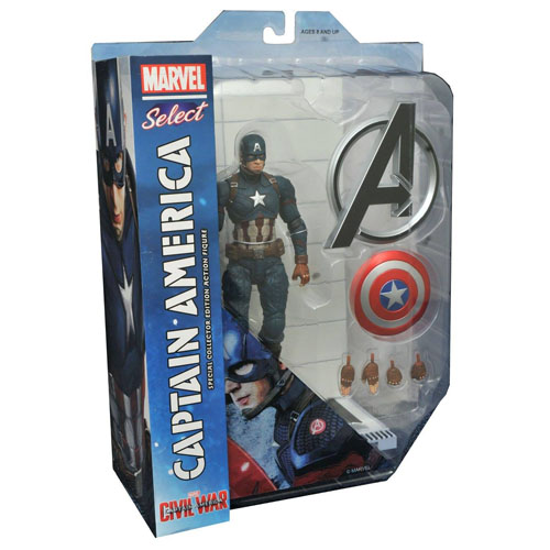 Capitão / Captain America - Action Figure Marvel Select Civil War / Guerra Civil 3