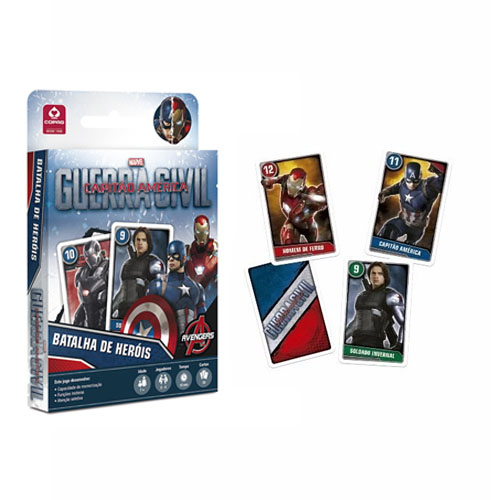 Card Game Batalha de Heróis Capitão América - Guerra Civil  - Copag Marvel 2