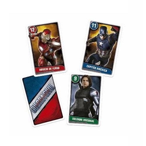 Card Game Batalha de Heróis Capitão América - Guerra Civil  - Copag Marvel 3