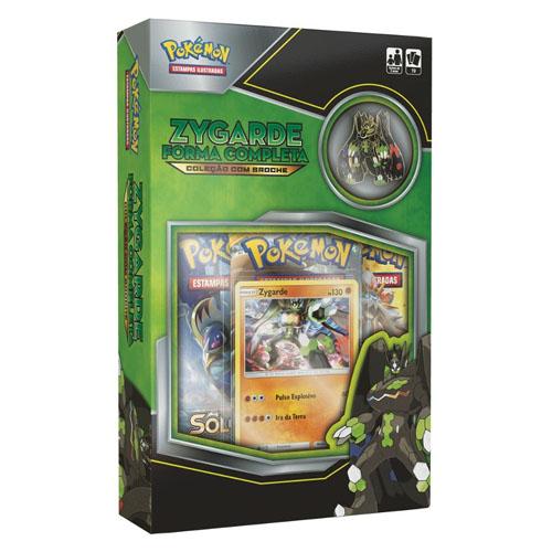 Card Game Pokemon - Zygarde Forma Completa - Coleção com Broche