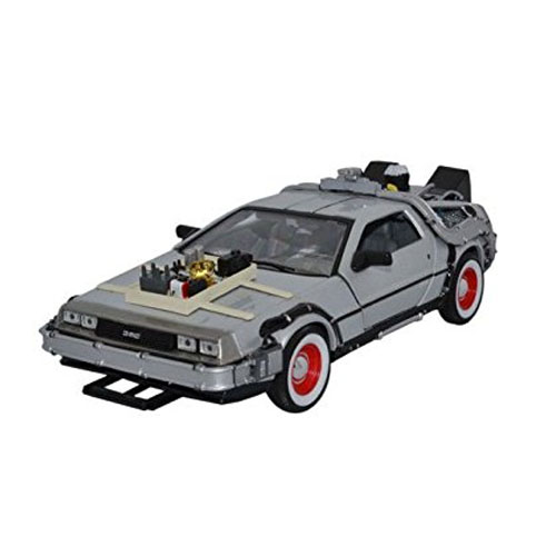 Carro DeLorean Time Machine Back to the Future 3 - Miniatura 1:24 De Volta para o Futuro III