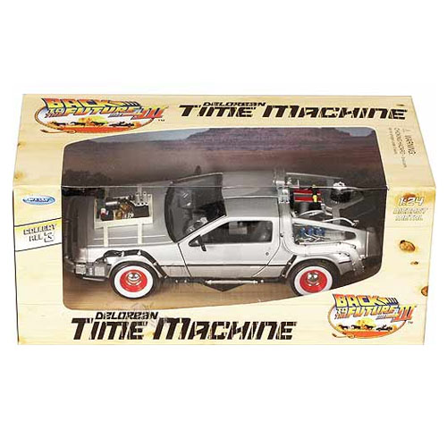 Carro DeLorean Time Machine Back to the Future 3 - Miniatura 1:24 De Volta para o Futuro III 4