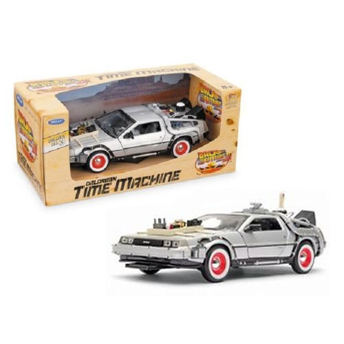 Carro DeLorean Time Machine Back to the Future 3 - Miniatura 1:24 De Volta para o Futuro III 2