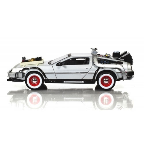 Carro DeLorean Time Machine Back to the Future 3 - Miniatura 1:24 De Volta para o Futuro III 3