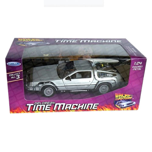 Carro DeLorean Time Machine Back to the Future - Miniatura 1:24 De Volta para o Futuro 4