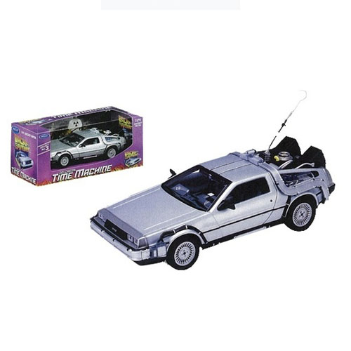 Carro DeLorean Time Machine Back to the Future - Miniatura 1:24 De Volta para o Futuro 2