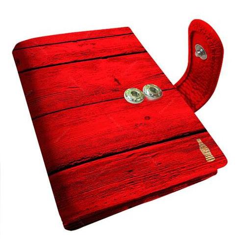 Carteira Porta-Cartão Coca-Cola Wood - Vermelha