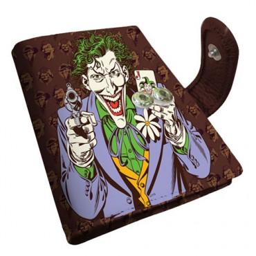 Carteira Porta-Cartão Coringa / Joker DC Comics - Marrom