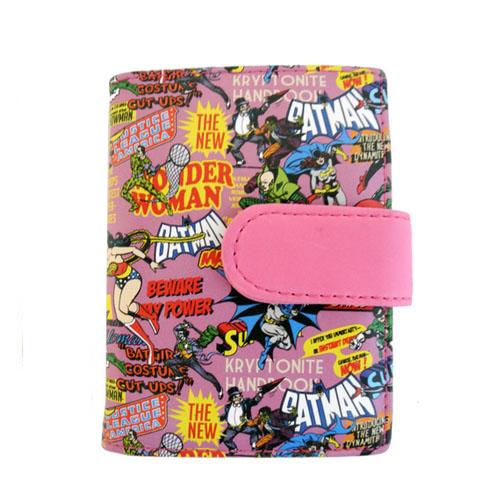 Carteira Porta-Cartão Super-Heróis DC Comics - Rosa 2