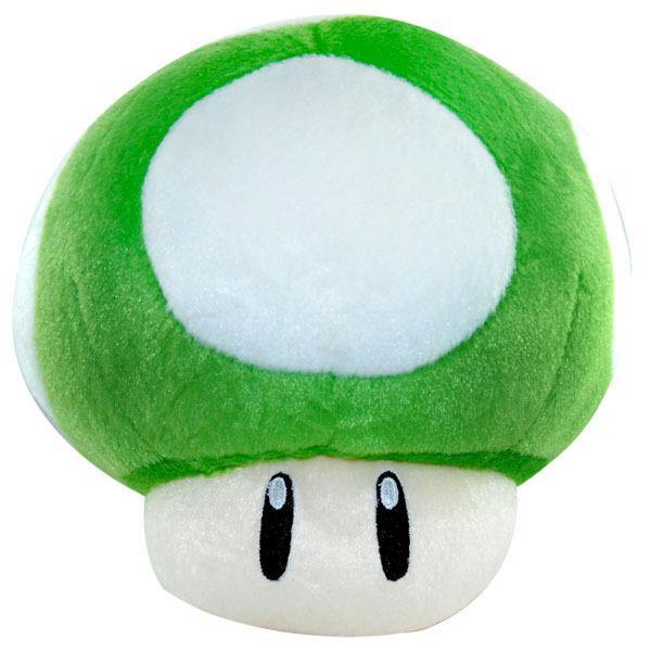 Cogumelo Verde 1 UP - Pelúcia Mario Bros