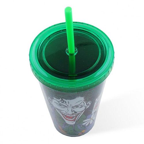 Copo com Canudo Coringa / Joker - DC Comics 2
