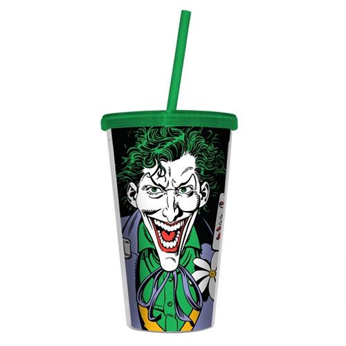 Copo com Canudo Coringa / Joker - DC Comics