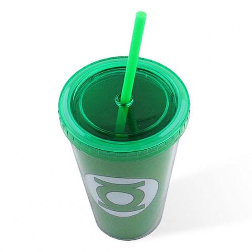 Copo com Canudo Lanterna Verde / Green Lantern - DC Comics 2