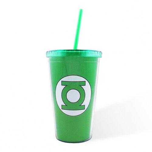 Copo com Canudo Lanterna Verde / Green Lantern - DC Comics 3