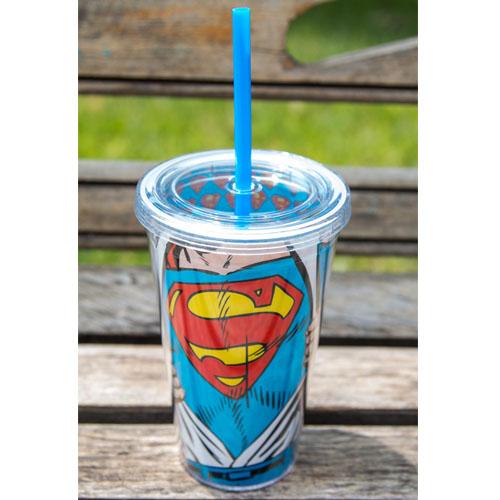 Copo com Canudo Super-Homem / Superman - DC Comics 2