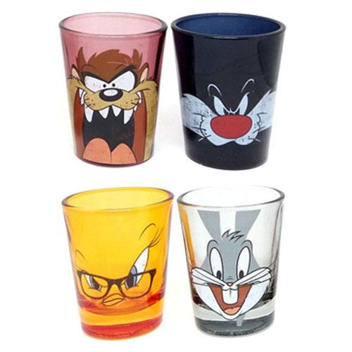 Copos Shot Pernalonga  Taz Frajola e Piu-Piu (Set com 4) - Looney Tunes 3