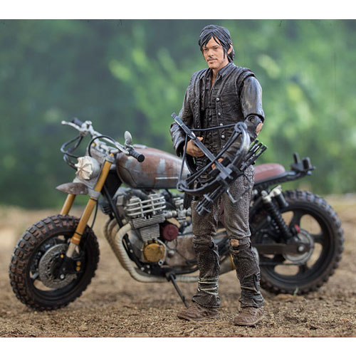 Daryl Dixon com Moto - Action Figure The Walking Dead - Deluxe Set McFarlane Toys 3