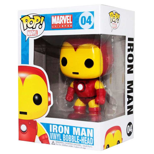 Homem de Ferro / Iron Man Clássico - Funko Pop Marvel Universe Avengers 4