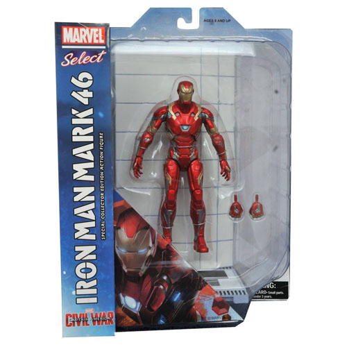 Iron Man / Homem de Ferro Mark 46 - Action Figure Marvel Select Captain America Civil War 6