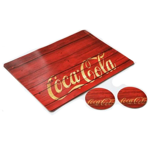 Jogo Americano Coca-Cola Wood (Set com 2) 3