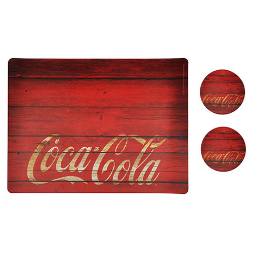 Jogo Americano Coca-Cola Wood (Set com 2) 2