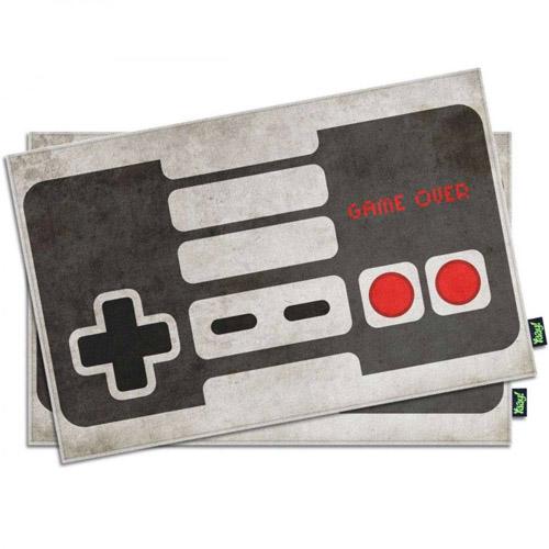 Jogo Americano Gamer Joystick NES Retrô Branco