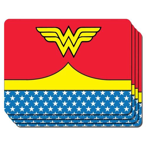Jogo Americano Mulher-Maravilha / Wonder Woman (Set com 4) - DC Comics