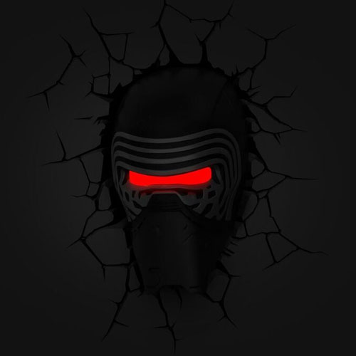 Kylo Ren - Luminária 3D Light FX Star Wars 2