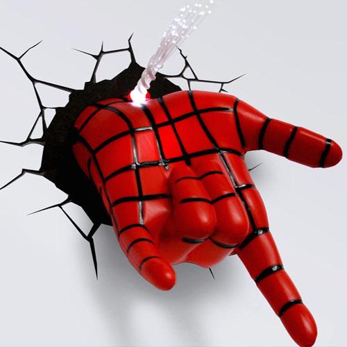 Mão do Homem-Aranha / Spiderman - Luminária 3D Light FX Marvel 4