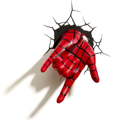 Mão do Homem-Aranha / Spiderman - Luminária 3D Light FX Marvel