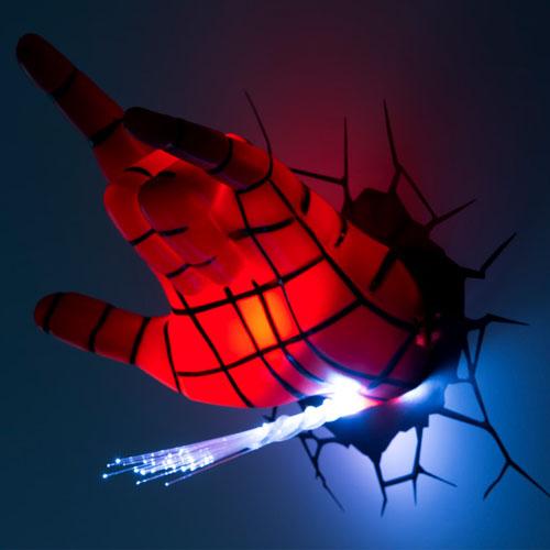 Mão do Homem-Aranha / Spiderman - Luminária 3D Light FX Marvel 3