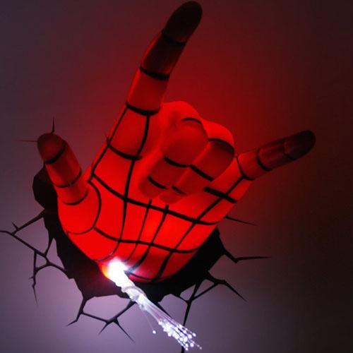 Mão do Homem-Aranha / Spiderman - Luminária 3D Light FX Marvel 5
