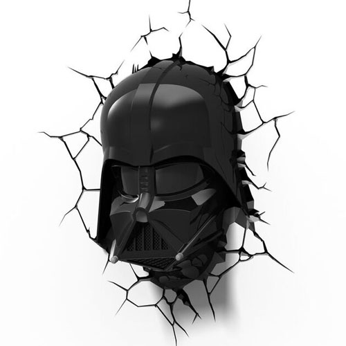Máscara do Darth Vader - Luminária 3D Light FX Star Wars 3