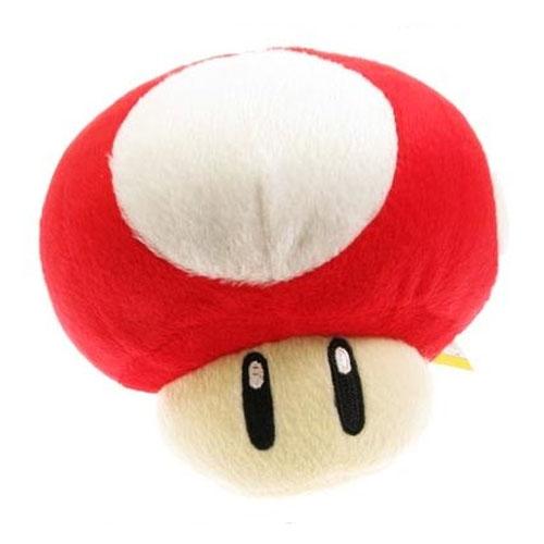 Cogumelo Vermelho - Pelúcia Mario Bros 3