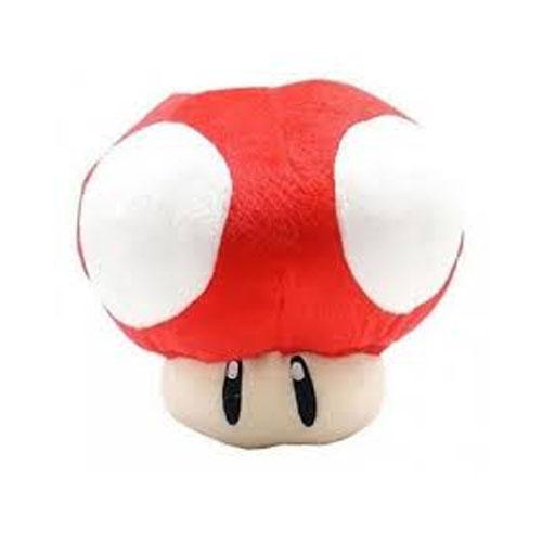 Cogumelo Vermelho - Pelúcia Mario Bros 2