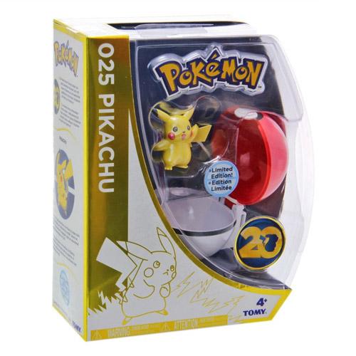 Pokebola / PokeBall com Pikachu - Pokemon Edição Limitada 20 Anos