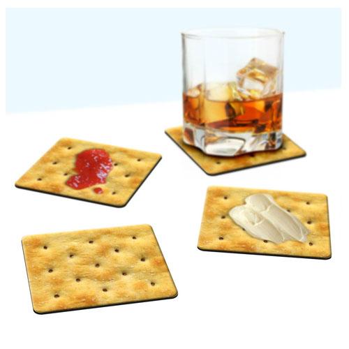 Porta-Copos Bolacha / Biscoito Cracker - Set com 4 2