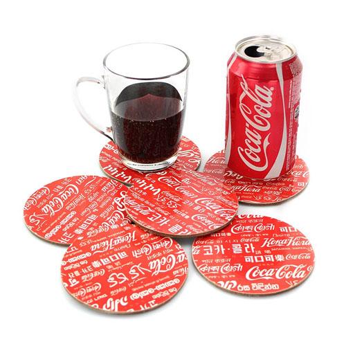 Porta-Copos Coca-Cola - World Redondo - Set com 6 2
