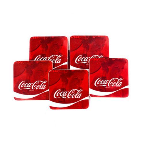 Porta-Copos Coca-Cola - Wave Logo Quadrado - Set com 6 3