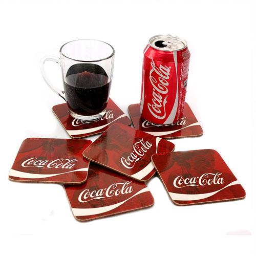 Porta-Copos Coca-Cola - Wave Logo Quadrado - Set com 6 2