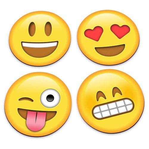 Porta-Copos Emojis / Emoticons - Set com 4