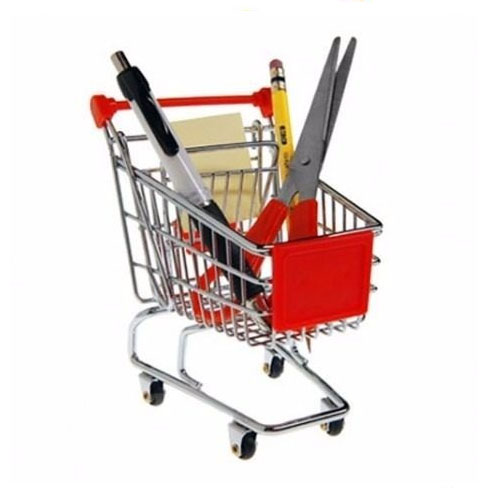 Porta-Trecos Mini Carrinho de Supermercado - Roxo 4