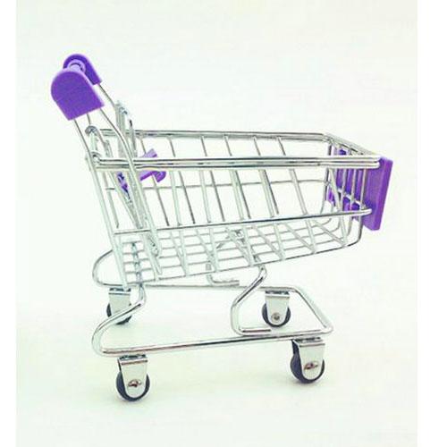 Porta-Trecos Mini Carrinho de Supermercado - Roxo 3
