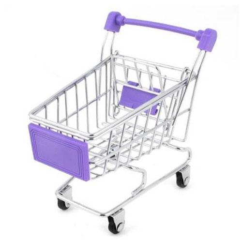 Porta-Trecos Mini Carrinho de Supermercado - Roxo 2