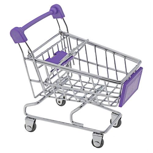 Porta-Trecos Mini Carrinho de Supermercado - Roxo