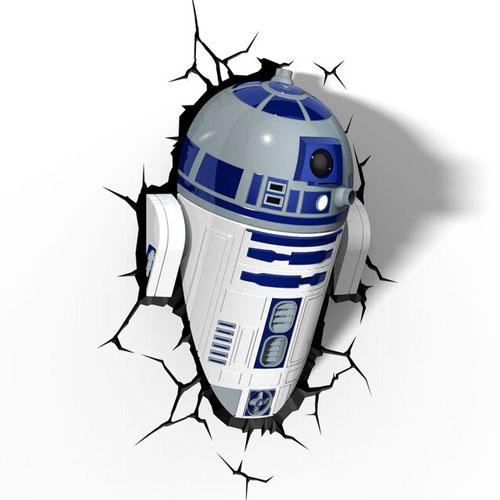 R2-D2 - Luminária 3D Light FX Star Wars 4